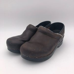 Dansko Professional Leather Clogs W Size 7 Brown
